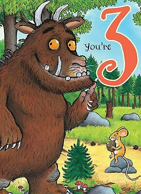 £2.75 • Buy The Gruffalo Youre 3 Birthday Greeting Card With Envelope Child