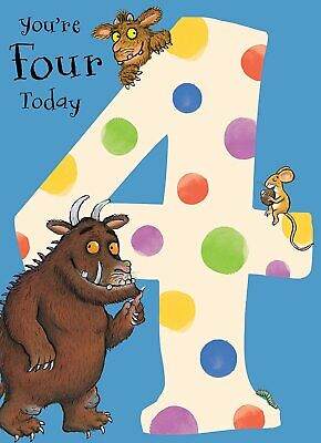 £2.75 • Buy The Gruffalo Youre Four Today Birthday Greeting Card With Envelope Child