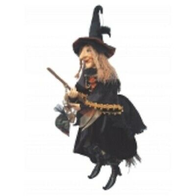 £47.50 • Buy Witches Of Pendle Large  *alice Nutter  Brown 50 Cm Flying Witch Info Book Pagan
