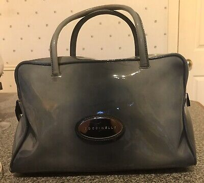 £25 • Buy Coccinelle Grey Patent Leather Bag Medium