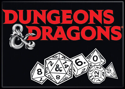 AU32.79 • Buy Dungeons And Dragons Logo And Dice 3.5 X 2.5 Magnet