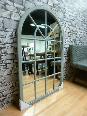 £110 • Buy New Large Antique Grey Arched Window Style Wall Mirror 135 Cms *Furniture Store*