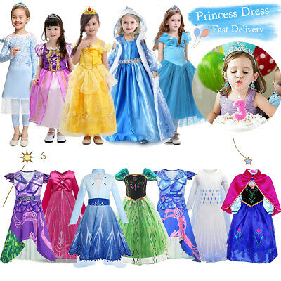 £12.99 • Buy Kids Fairy Tale Princess Dress Up Fancy Costume Party Girls Cosplay Outfit Gifts