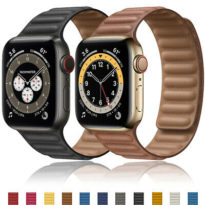 AU15.33 • Buy For Apple Watch Leather Link Band Magnetic Strap IWatch Series 6 5 4 3 2 40/44mm