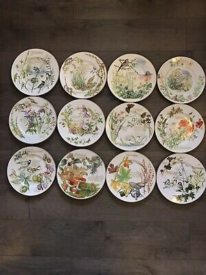 £50 • Buy Set Of 12 Caverswell Collectors Month Plates  A Diary Of An Edwardian Lady