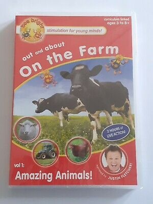 £8.20 • Buy Bee Bright Out And About On The Farm Vol 1 Amazing Animals (DVD) Justin Fletcher