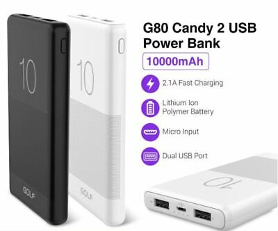 AU17.99 • Buy PREMIUM G80 10000mAh Candy Dual USB Slim 2.1A Charge Power Bank For Mobile Phone