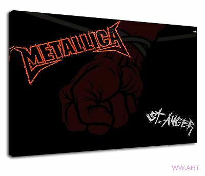 £38.99 • Buy Metallica Heavy Metal Band Logo St Anger Canvas Wall Art Picture Print