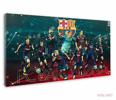 £38.99 • Buy Superstars Of Fc Barcelona Poster For Drawing Room Canvas Wall Art Picture Print