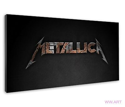 £38.99 • Buy Metallica Band Logo Artwork For Boys Bedroom Canvas Wall Art Picture Print