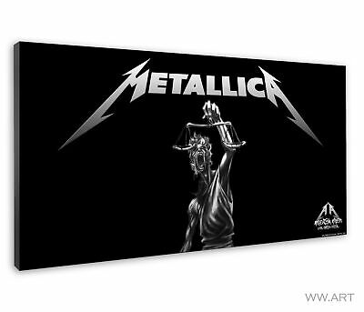 £38.99 • Buy Metallica Logo Artwork With Fictional Character Canvas Wall Art Picture Print