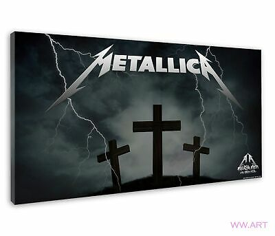 £38.99 • Buy Metallica Logo Art With Three Cross On The Hill Canvas Wall Art Picture Print