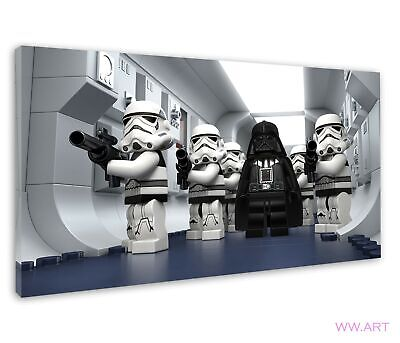 £38.99 • Buy Lego Star Wars Droid Tale Darth Vader And Troopers Canvas Wall Art Picture Print