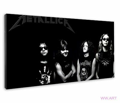 £38.99 • Buy Metallica Monochrome Band Photograph Image  Canvas Wall Art Picture Print