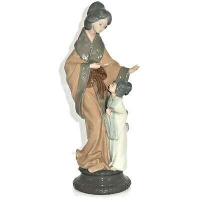 £181.85 • Buy NAO By Lladro Porcelain Figurine Oriental Mother 279 With Girl, 15  Tall Geisha