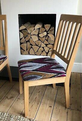 £35 • Buy Pair Of Dining Chairs - African Wax Print Fabric
