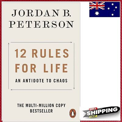 AU20 • Buy NEW 12 Rules For Life 2019 By Jordan B. Peterson Paperback Book | FREE SHIPPING