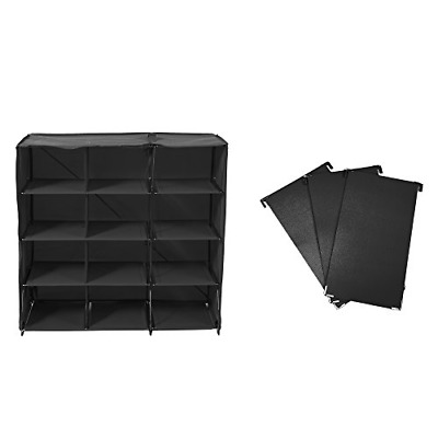 AU54.80 • Buy Origami 12 Cube Foldable 3 Piece Divider Shoe Rack, Small, Black