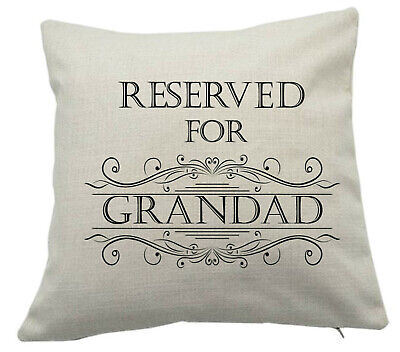 £9.90 • Buy Reserved For Grandad Cushion Cover Custom Personalised Unique Gift For Christmas