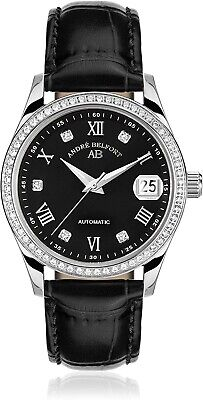 £199.99 • Buy 19173 Andre Belfort 410293 Automatic Womens Watch Leather MIYOTA DATE BOX NEW