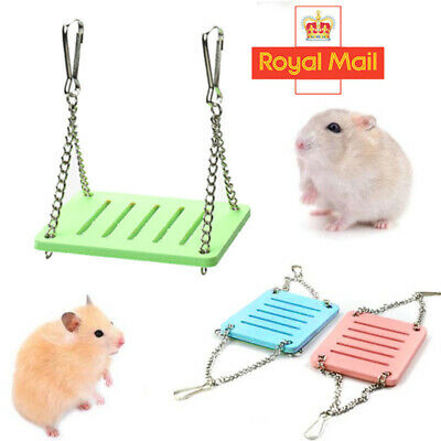 £2.79 • Buy 1PC Pet Exercise Toy Hanging Swing Bed Rats Parrot Hamster Small Birds Play UK