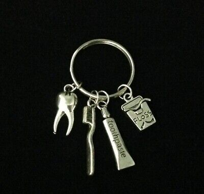 £9.32 • Buy 10PCS Dentist Dental Assistant Hand Stamped Keychain Graduation Gift