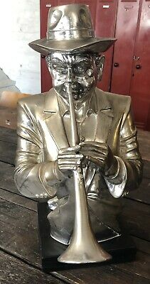 £22 • Buy Ornamental Jazz Player Bust With Base / Ornament / Jazz / Trumpet / Sculpture