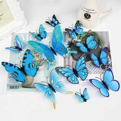 £2.99 • Buy 12 X 3D Butterfly Wall Stickers Home Decor Room Decoration Sticker
