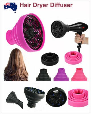 AU13.20 • Buy Silicone NEW Hair Dryer Universal Travel Professional Salon Foldable Diffuser^