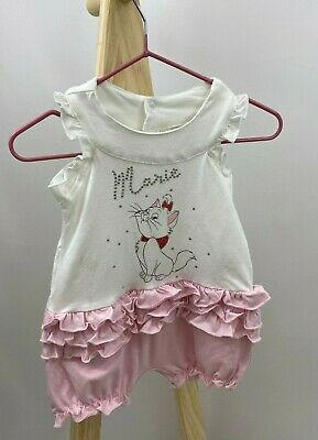 £4.49 • Buy NEW Ex Store Disney Marie Aristocats Baby Girls Romper All In One Outfit Shorts