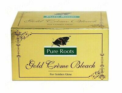 £5.99 • Buy Facial Bleach Pure Roots Gold Creme For Golden Glowing Skin 100% Herbal Face