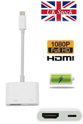 £8.99 • Buy IPhone To HDMI 8 Pin To Digital TV AV Adapter Cable Apple IPad IPhone 7 8 X 11