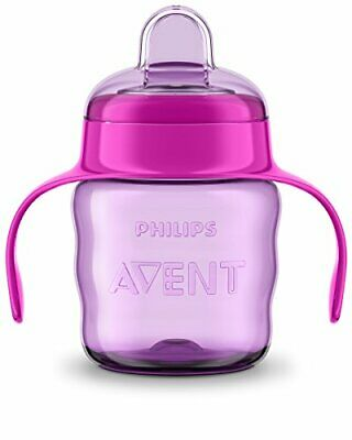 £5.99 • Buy Avent Easy Sip Spout Cup With Handle, 200 Ml, Pink/Purple - SCF551/13