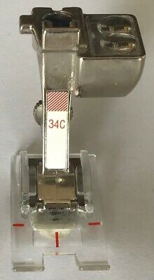 £25 • Buy Bernina Sewing Machine Reverse Pattern Foot With Clear Sole 34C