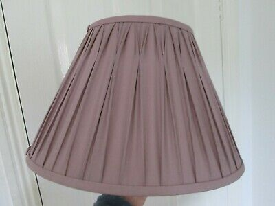 £28 • Buy Laura Ashley Mauve Amethyst Pinched Pleated Lampshade Used 14  Base Across