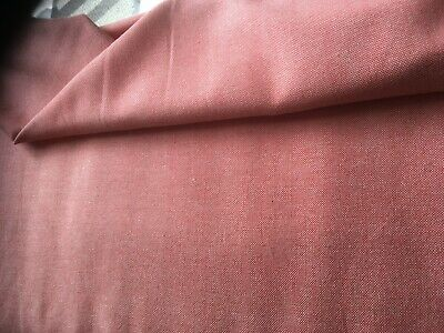 £9 • Buy Salmon   Pink Linen Wool Blend Fabric   See Pics 150cm