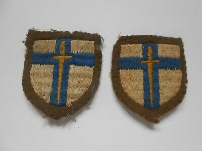 £24 • Buy 2ww  Second Army Pair Of Cloth Formation Signs Military Unit Patches