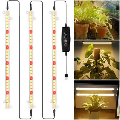£18.59 • Buy LED Grow Light Strips Full Spectrum Dimmable Plant Growing Lamp For Indoor Plant