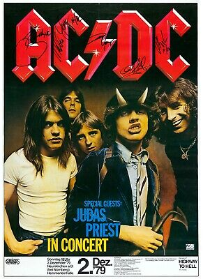 $4.99 • Buy AC/DC Reproduction 4  X 6  Mini Concert Poster Free Top Loader #2