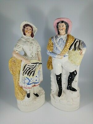 £75 • Buy Staffordshire Flatback Of The Fishmonger And Fishmonger's Wife - Perfect