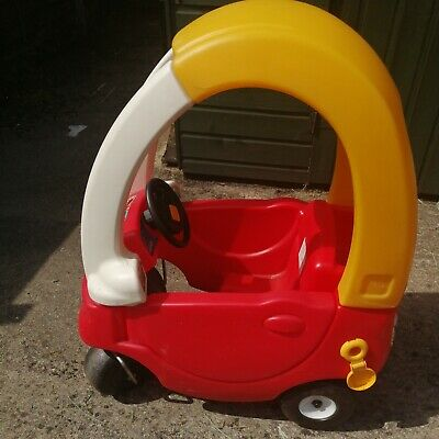£24.99 • Buy  Toy Car  Ride On And Push Along Car With Cover Yellow And Toy Shopping Trolley