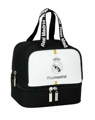 £9.99 • Buy Real Madrid Lunch Bag With Separate Bottom 100% Official FCRM Back To School