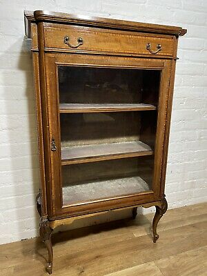 £185 • Buy Victorian Antique Inlaid Mahogany Display Cabinet. Delivery Available Most Area