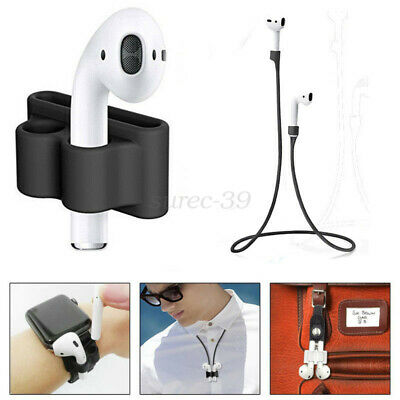 AU12.59 • Buy For Apple Airpods Accessories Silicone Cover Case Holder / Anti Lost Strap 2019