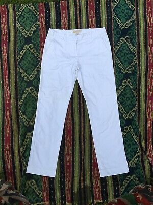 £29 • Buy Michael Michael Kors Tailored Cropped Trousers White Cotton Size MK2 RRP £153