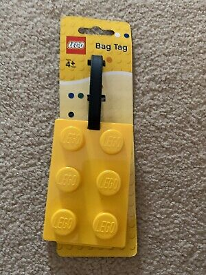 £7 • Buy Lego Yellow Brick Bag Tag - Write Name On Suitcase Or Backpack