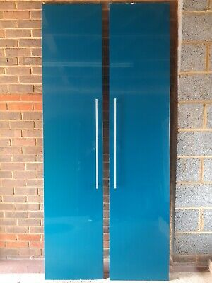 £15 • Buy Ikea Fardal High Gloss Blue/Turquoise Pair Of Wardrobe Doors With Handles