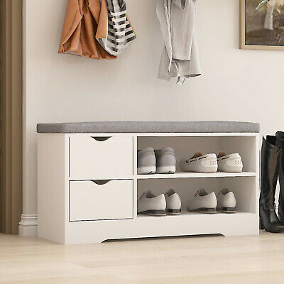 £59.90 • Buy Shoe Storage Bench Shoes Rack Cabinet Hallway Seat Stool Cupboard With Cushion