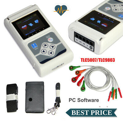 £230 • Buy 24 Hours 3 Channel ECG/EKG Holter Monitor System CONTEC TLC9803 USB Software CE