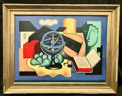 £4200 • Buy 1940s French Still Life Construction Oil Painting ------ Fernand LEGER 1881-1955